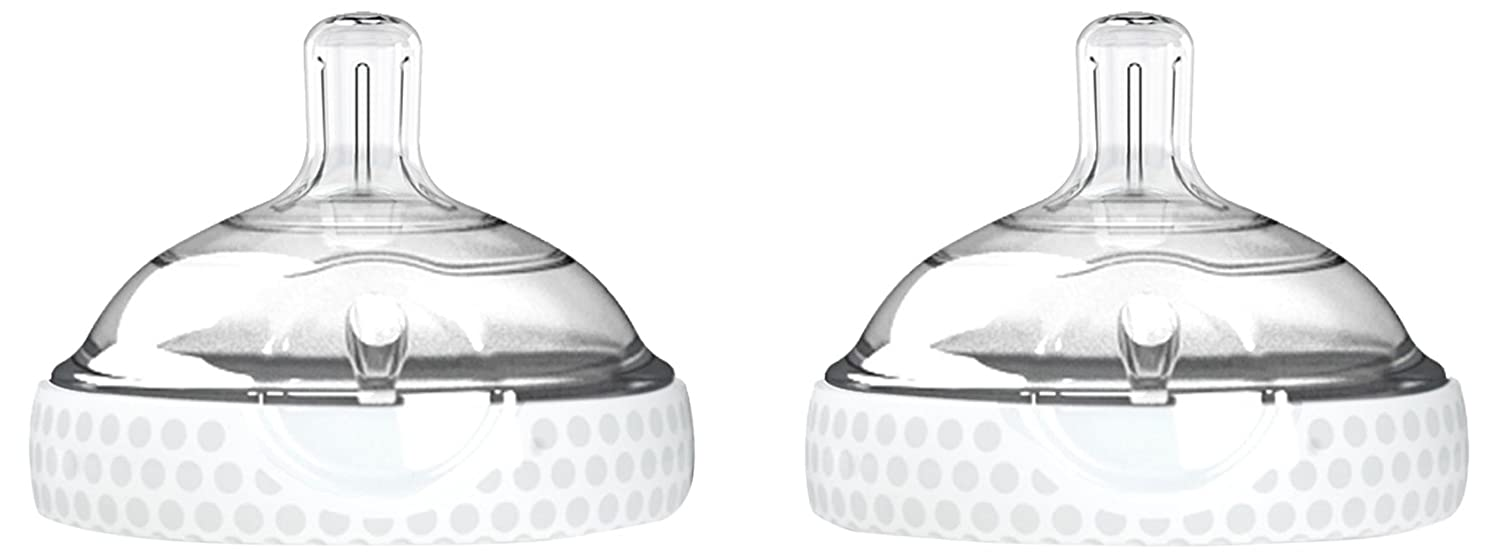 Baby Brezza BZB00181 Nipple (2 Pack), Clear/White