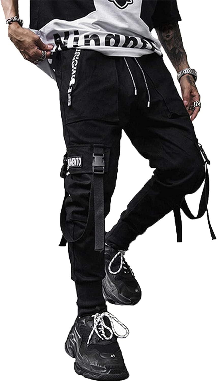 Men/'s Streetwear Pants Hip Hop Joggers Trousers Tactical Pants Cargo Harem Pants