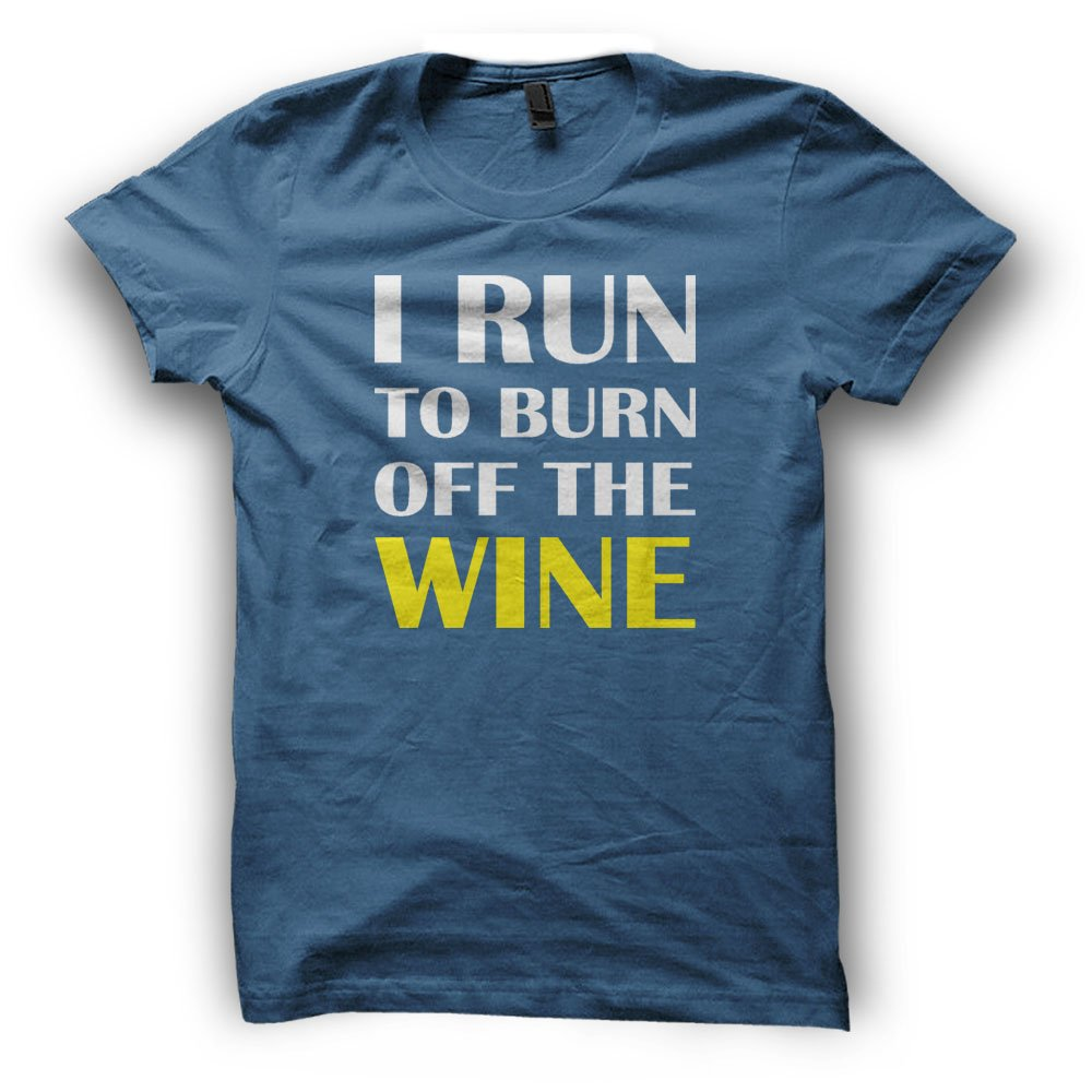 Paranoid Penguin Run To Burn Off The Wine Mens T-Shirt ...