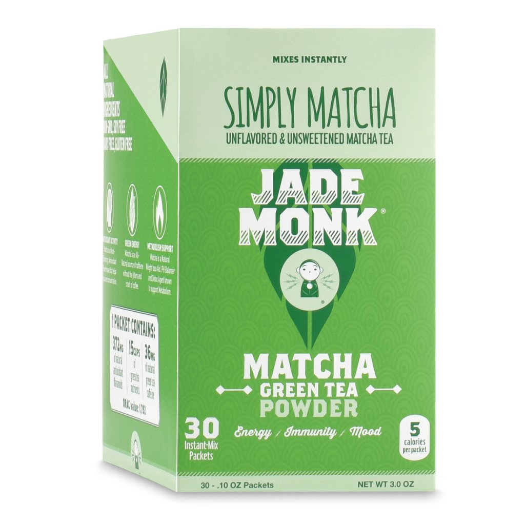 Matcha Green Tea Powder - Naturally Boost Metabolism, Improve Mood, and Increase Energy - On The Go Superfood - Simply Matcha, 30 Servings by Jade Monk