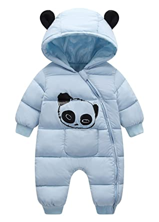 57d6c4f84 Amazon.com  Happy Cherry Baby Warm Jumpsuit Infant Winter Romper ...