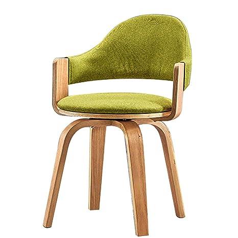 Amazon.com: Silla de escritorio ergonómica de madera para ...