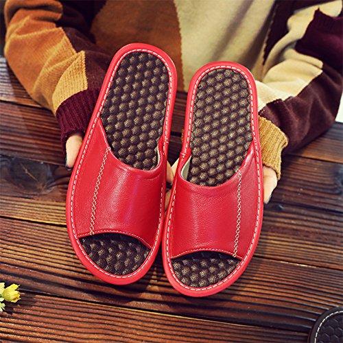 soggiorno donna in pantofole antiscivolo Fankou cool con Rosso estate 35~36 pavimento coppia legno nbsp;Pantofole un home uomini mute 25 Pq5p5nIx8