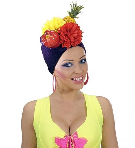 shoperama - Copricapo brasiliano Miranda con frutti Brazil Cappello frutta  ananas esotico Samba Carnevale a Rio 4dcd9aeecb0f