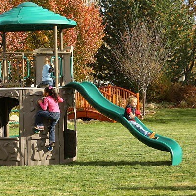 Adventure Giant Rock Wall Tower Metal Swing Set With Clubhouse