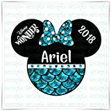 PERSONALIZED Disney Inspired Ariel Little Mermaid Magnet. Handmade Little Mermaid Disney Cruise Magnet. Disney Inspired Minnie Mickey Head.