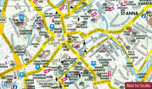 Bruges Brugge Belgium 117 500 Street Map DeROUCK Amazoncouk
