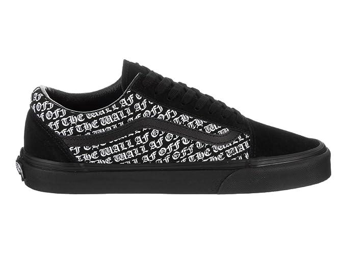 44539139f8 Vans Unisex Old Skool (OTW-AF) Black/Black Skate Shoe 4.5 Men US / 6 ...