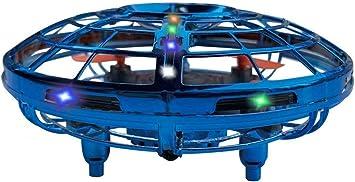 Opinión sobre BELLA BEAR Mini Drone UFO Juguetes voladores con Luces LED Dos Modos de Juego (Vuelo y Tierra) Inducción Infrarroja Controlado a Mano Fácil de operar para niños-Azul