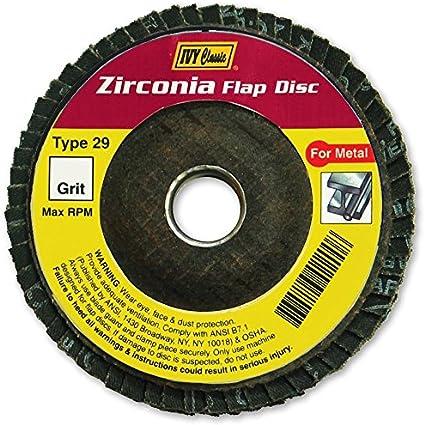 IVY Classic 42200 Flex-Abrasive 4-Inch x 5//8-Inch 36 Grit Extra Coarse Zirconia Flap Disc