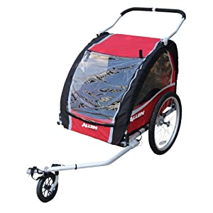 Allen Sports Premium Aluminum 2 Child Bicycle Trailer and Stroller