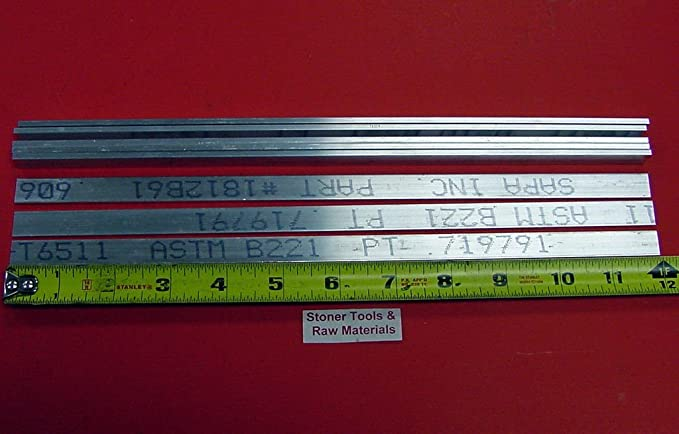 """1/"""" X 1-1//2/"""" X 8/"""" 6061 T6511 ALUMINUM FLAT BAR Mill Stock Plate 1.00 1.50"""