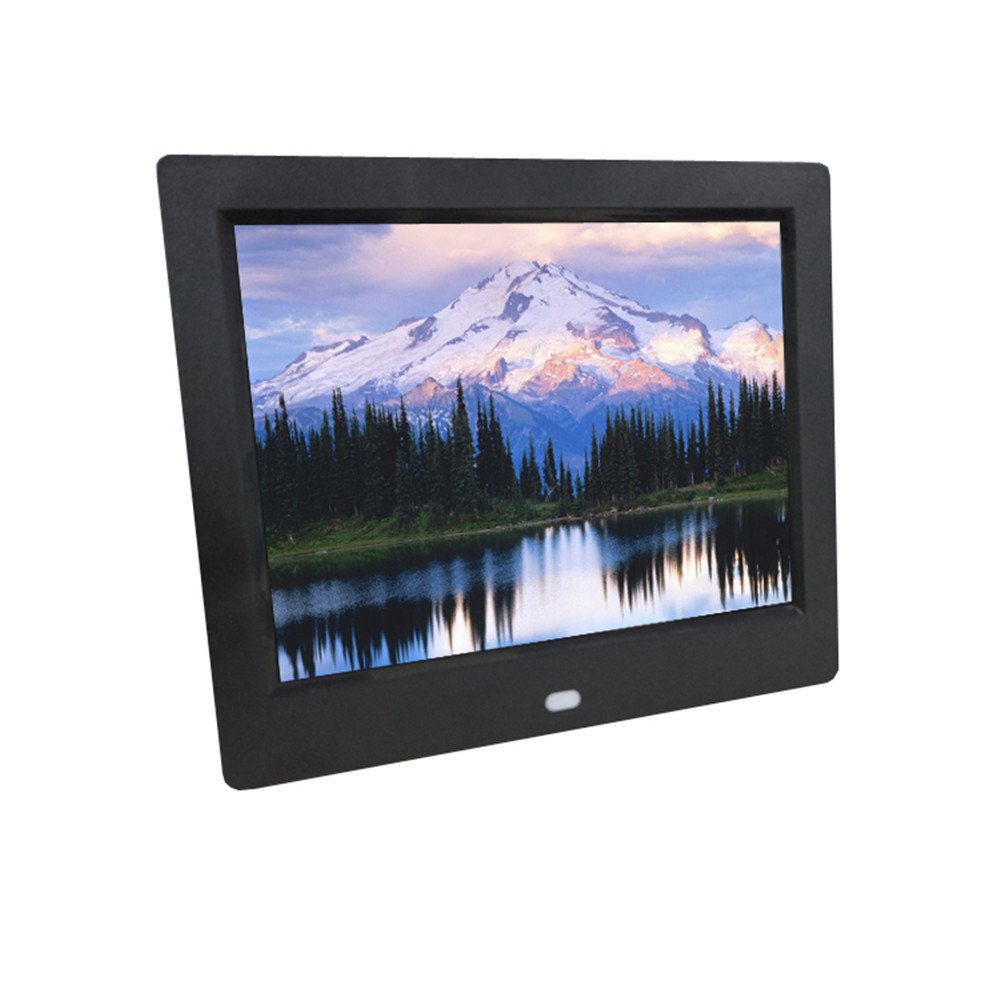 Inkach 7 inch Digital Photo Frame with Motion Sensor High-Definition Widescreen LCD Digital Picture Frames (Black)
