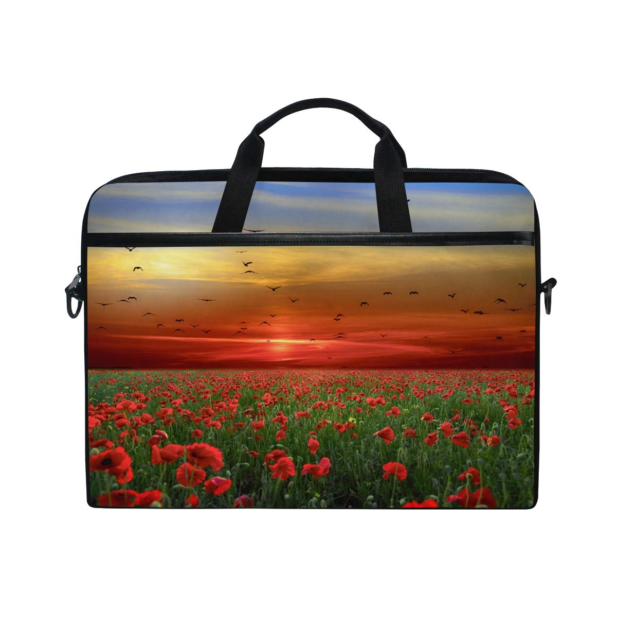 Suitable for 15 Inch Computers Briefcases Shoulder Bags Handbags Landscapemens and Womens Computer Bags