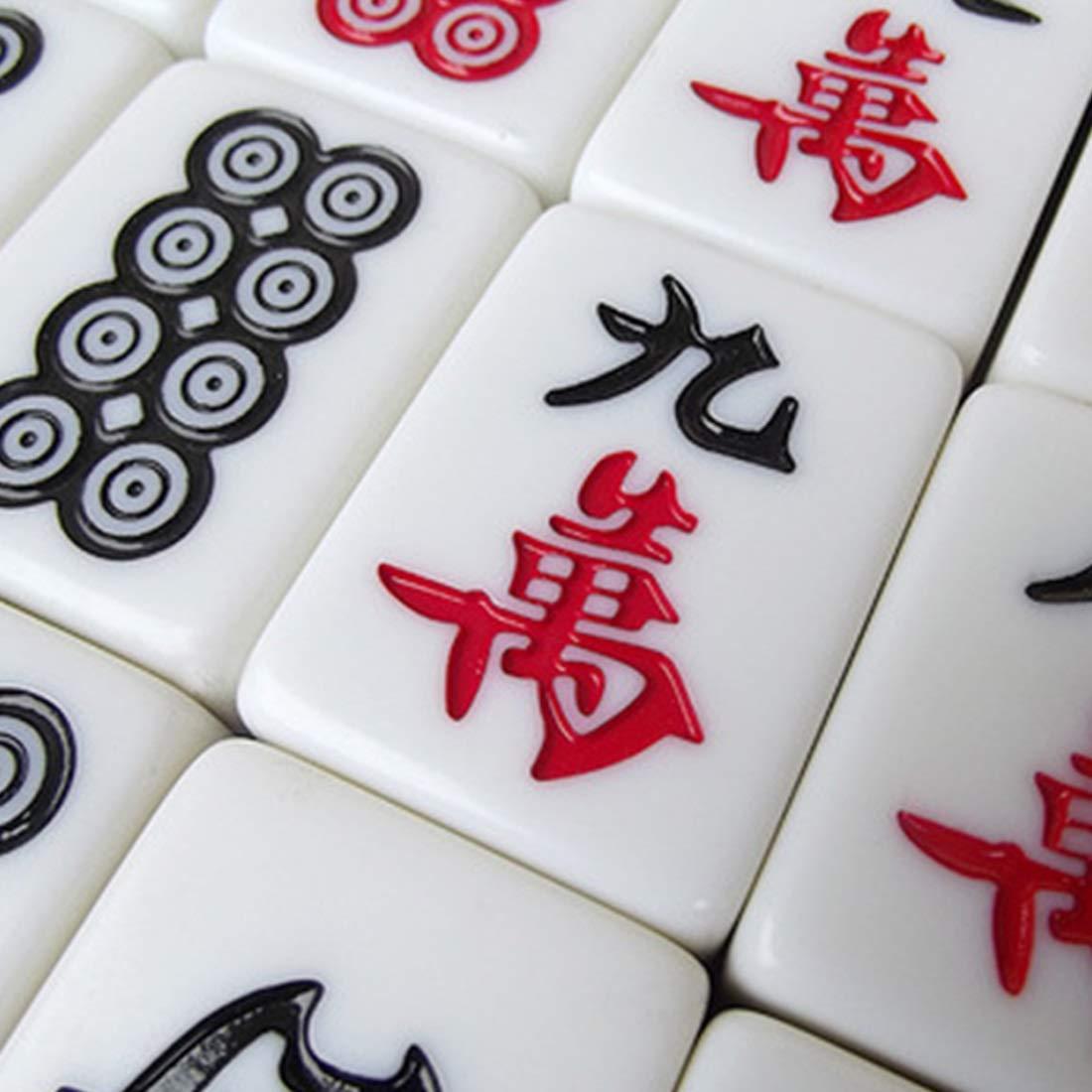 calidad auténtica Hexiansheng Mahjong Portátil ; Mahjong De Bambú Clásico M Mahjong Mahjong Mahjong Del Hogar ; Un Mantel De Fieltro De 80 MM De Mesa De Mahjong, Una Bolsa De Almacenamiento Y 2 Dados De Color ; Múltiples Tamaños Dispo  solo cómpralo