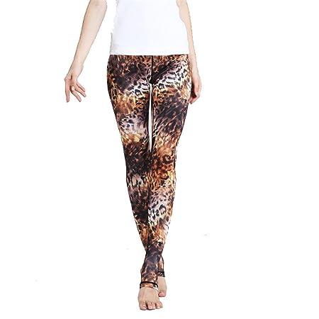 Zgsjbmh Pantalones de Yoga Europa y Estados Unidos Step Foot ...