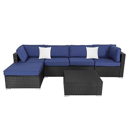 Amazon.com: Kinsunny - Juego de 6 muebles de exterior de ...