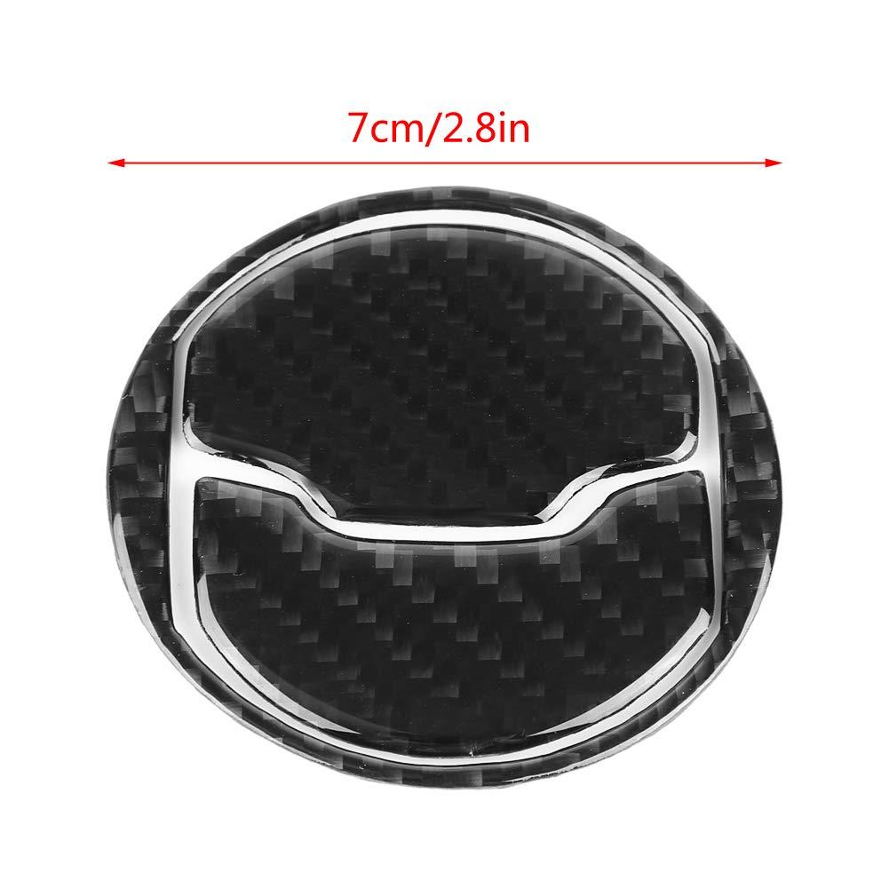 Coperchio del pannello di uscita anteriore 3 pezzi Pannello di copertura del pannello di uscita dellaria in fibra di carbonio per Mustang 15-17