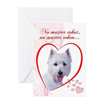 Amazon Cafepress Westie Valentines Card Greeting Card