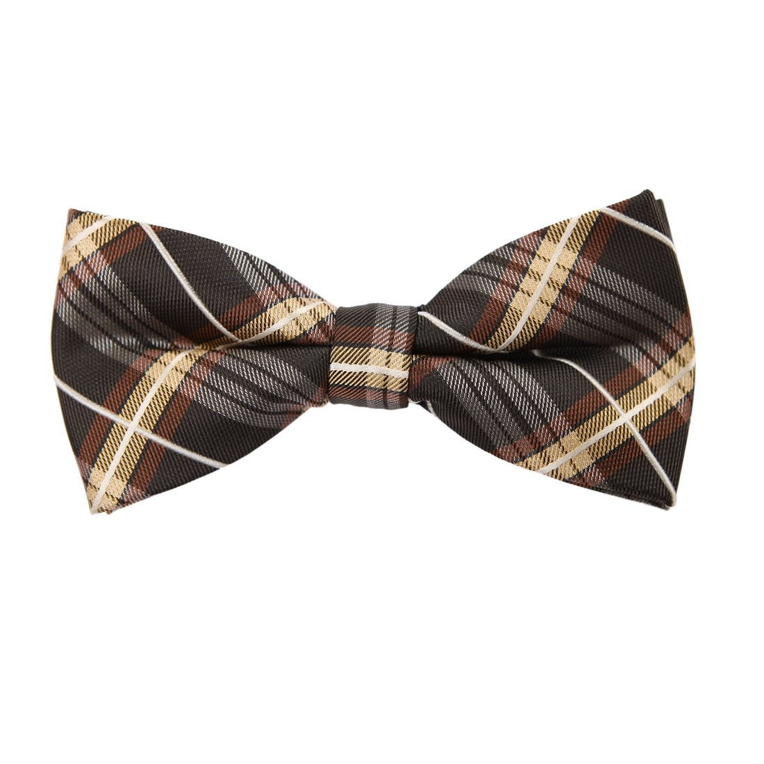Epoint Mens Fashion Checkered Bow Ties Microfiber Cheap Gift Pre-tied Bow Tie