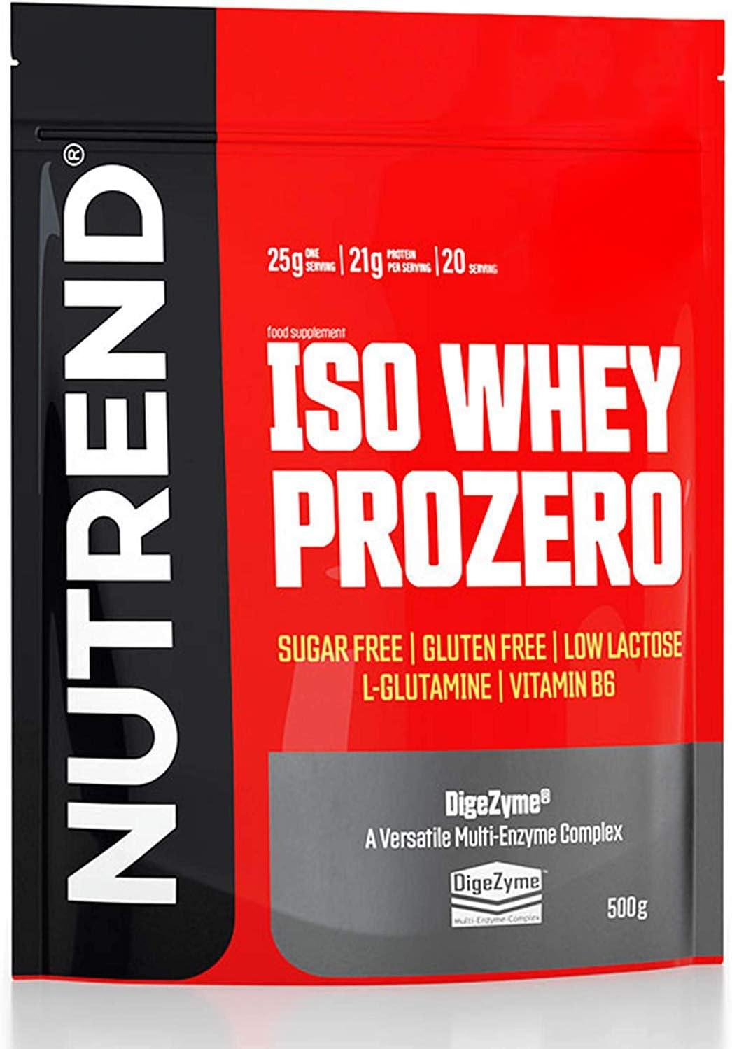 Nutrend Iso Whey Prozero 1 paquete Whey Protein Isolate WPI Desarrollo muscular (Vanilla Pudding, 500g)
