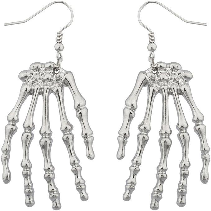 Goth Skeleton Hand Earrings