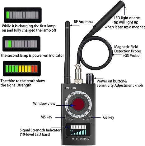 Ankaka A51025 Portable Anti Spy Wireless Bug Detector Frequency Counter