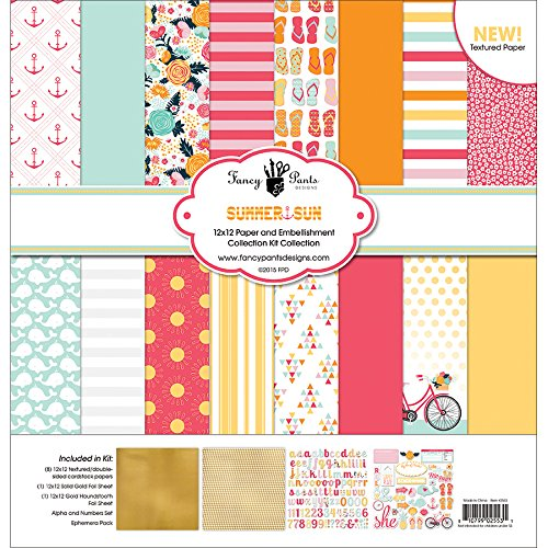 Fancy Pants Designs 2553 Summer Sun Collection Kit for Scrapbooking (Scrapbooking Lot Scrapbook Paper)