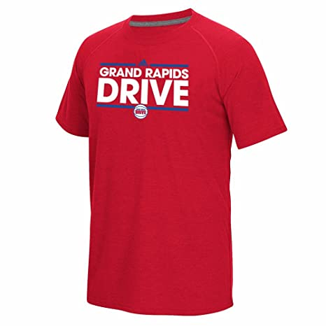 45be767ff7e3 adidas Grand Rapids Drive NBA Red On-Court Climalite Performance Short  Sleeve Ultimate T-