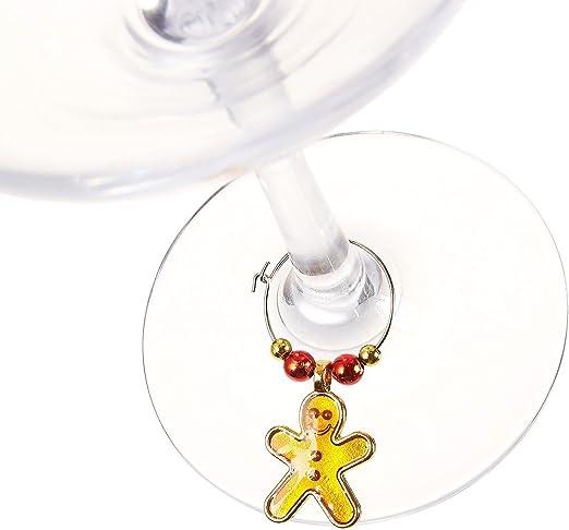 Wein Glas Tags Gastgeschenken sortiert Farben Drink Marker Wein 12/St/ück Wein Glas Charms/ /Weihnachts-Weinglas Marker