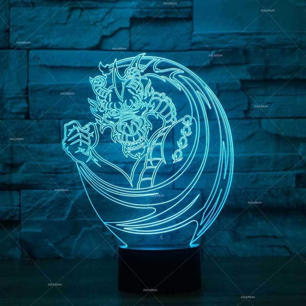 BFMBCHDJ Lámpara de mesilla con forma de dragón Explosión de ...
