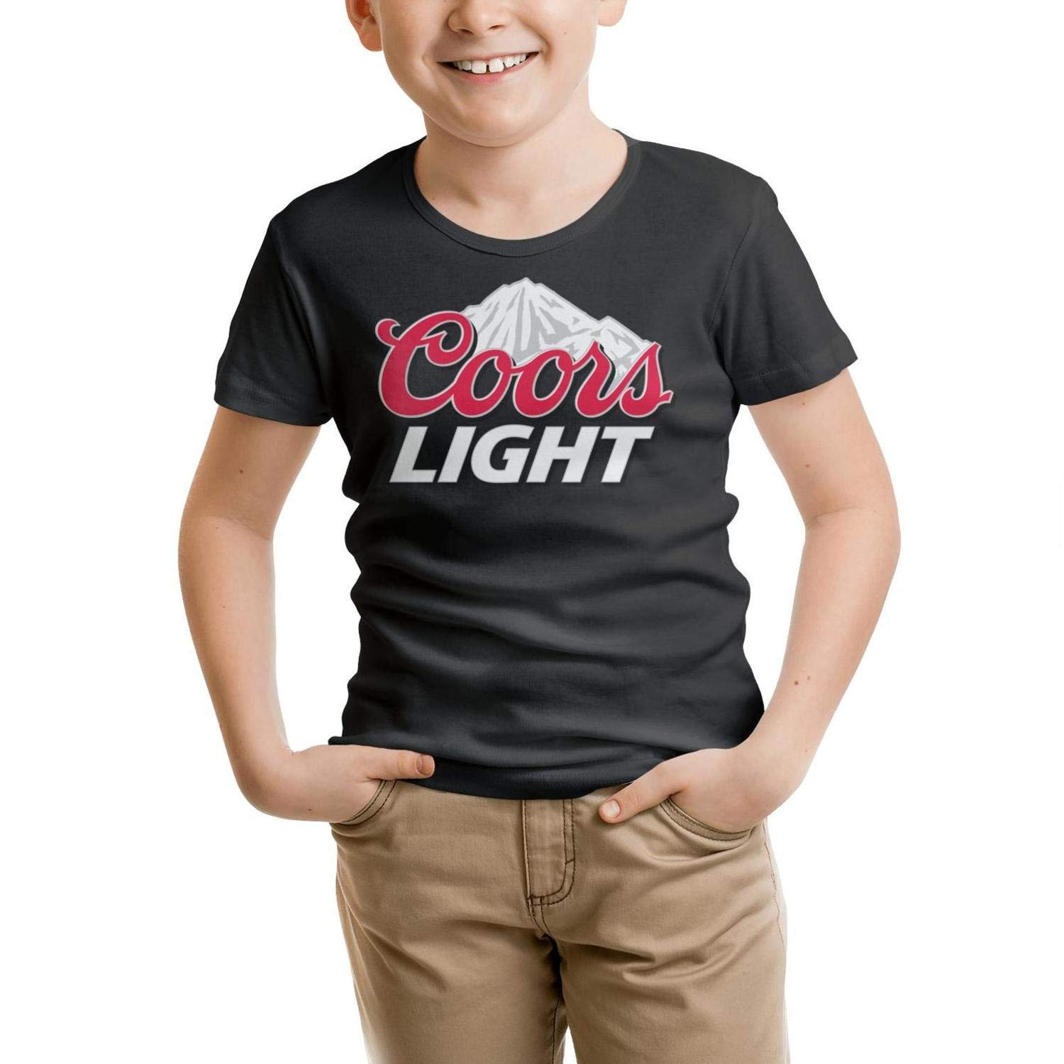Kids Short-Sleeve Cotton coors-Light-Sign t-Shirt for 2-10Y