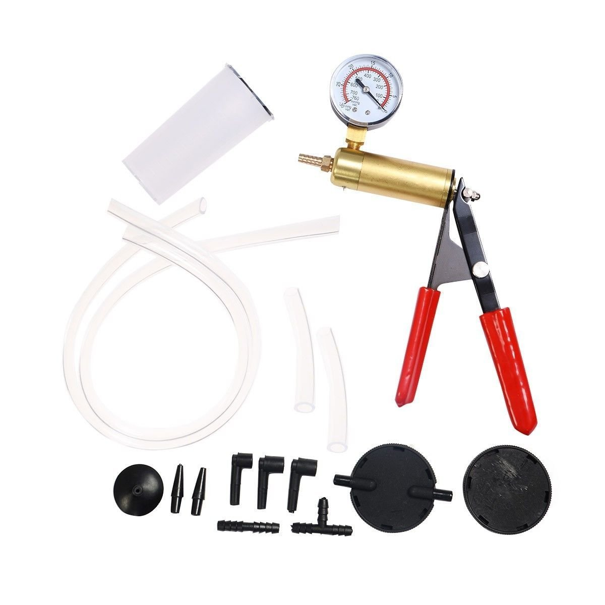 CHOOSEandBUY 2 in1 Brake Bleeder Bleeding & Vacuum Pump Tester Kit Professional Automotive
