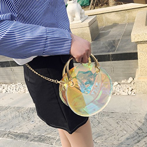 Salida Populares OULII Borsa a tracolla trasparente lucente delle donne Borsa a tracolla trasparente sacca trasparente della gelatina (blu) Moda En Línea Vendible Comprar Barato Con Tarjeta De Crédito Estilo De Moda La Venta Barata tIoFbUqJho