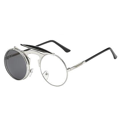 Gafas de sol unisex con montura de metal retro Steampunk ...