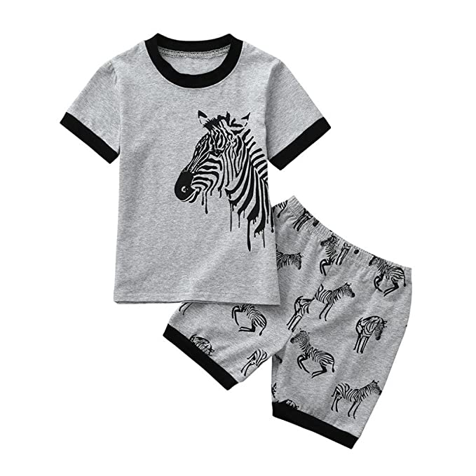 UK Kids Baby Boy Formal Suit Flamingos Shirt+Shorts Pants Summer Outfits Clothes