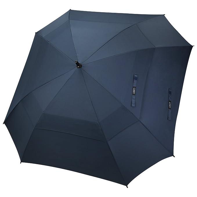 G4Free 157,5 cm automatischen öffnen Golf Regenschirm Double Canopy quadratisch Regenschirm extra großer belüftet Winddicht S