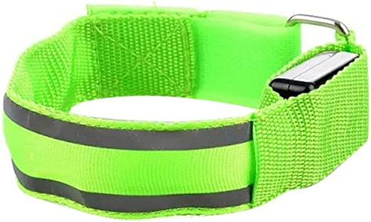 Outdoor Arm Armband Strap LED Reflective Safety Belt for Night Running Cycling