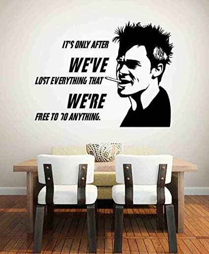 Film Fight Club Wall Decal Best Quotes Tyler Durden Narrator ...