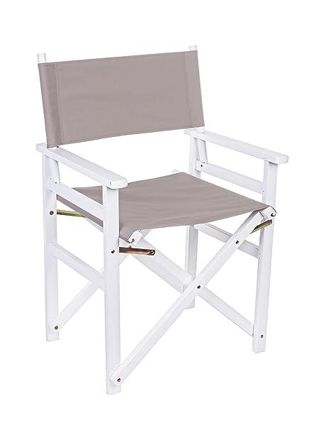 Conjunto de 4 sillas plegables de cineasta, en madera, en ...