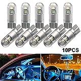 T10 LED Light Bulbs 194 921 168 LED Light Bulbs 3030 3SMD Wedge Interior LED Light Bulb W5W 158 for car led lights interior Lights tail led backup exterior lights door map trunk(10pcs,Crystal Blue)
