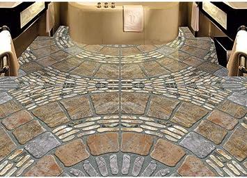 Rureng Pvc Personalizado Autoadhesivo De Lujo Papel Tapiz Del Suelo 3D Adoquines Suelo De Baldosas 3D Fondos De Pantalla Para La Sala De Murales Del Piso 3D-200X140Cm: Amazon.es: Bricolaje y herramientas