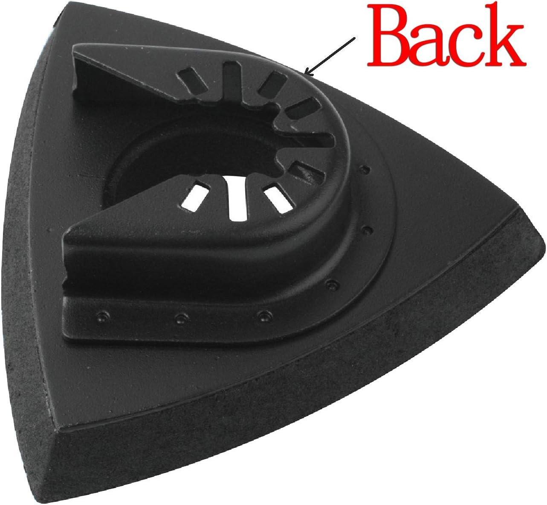 Dewalt,Dremel Podoy 3-1//8 Triangle Sanding Pad 80mm Hook /& Loop Oscillating Multitool Sandpaper Compatible with Bosch Chicago Craftsman Pack of 4