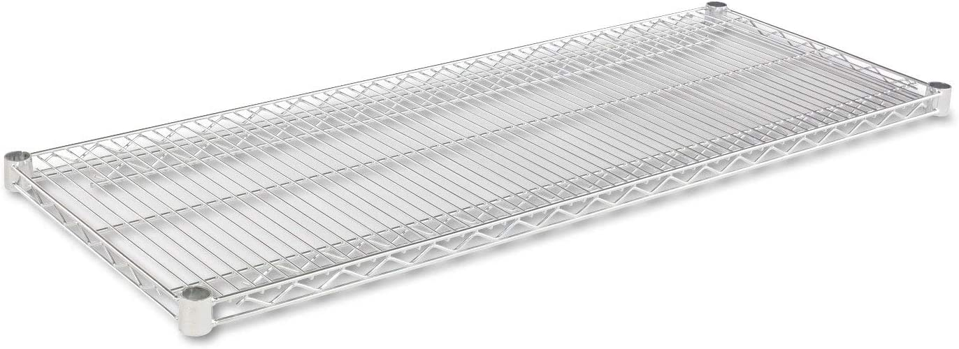 Alera SW584818SR Industrial Wire Shelving Extra Wire Shelves, 48w X 18d, Silver, 2 Shelves/carton