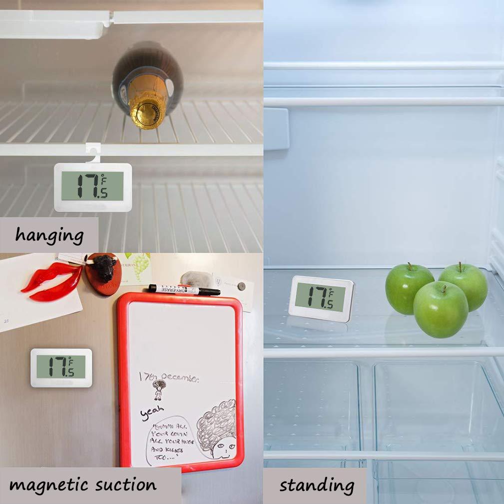 Termómetro digital para frigorífico o congelador, impermeable, con ...