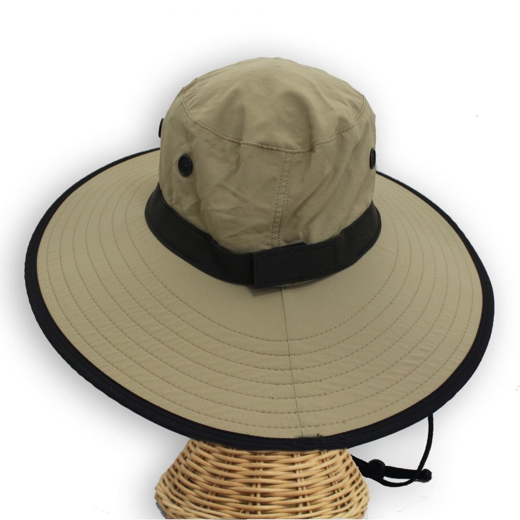 7b5e1473e62aaa Amazon.com: Cruz Packable Fishing Sun Hat For Men With Chin Strap Extra  Wide Brim UPF 50 - Large Sun Hat For Gardening From Sungrubbies (2XLarge  (Fits like ...