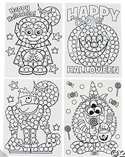 Paper Halloween Dot Activity Sheets (2 Dozen (Coloring Sheets For Halloween)