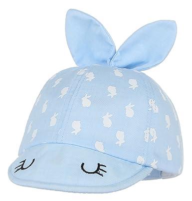 GEMVIE Chapeau Enfant Bébé Fille Lapin Souple Bonnet Sport Casquette Soleil  Bleu e60d6e1e7d2