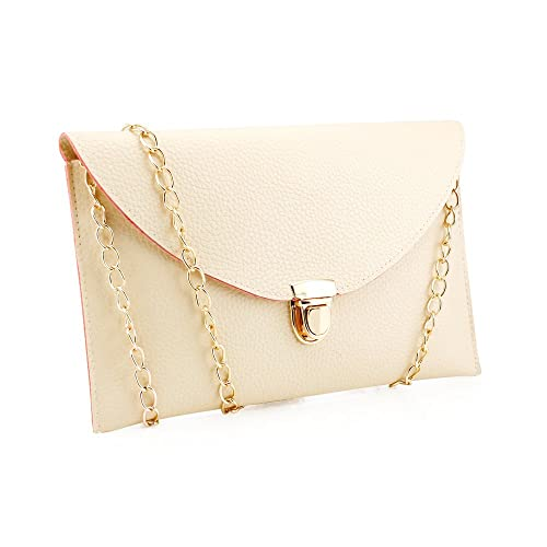 Amazon.com  GEARONIC TM Fashion Designer Women Handbag Tote Bag PU Leather Shoulder  Ladies Girls Purse Teens For Beach Travel Work Evening Day School Beige  ... b971659e55ea8