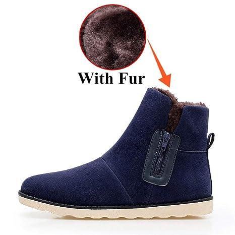 648092950454b6 FHCGMX Flock Scarpe Maschili per Uomo Inverno Adulto con Stivali da Neve  Casual Antiscivolo Scarpe da
